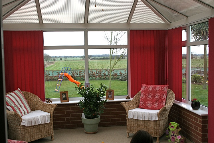 Conservatory With New Blinds